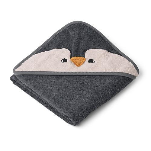 Baby badcape Albert Pinguin Stone grey - Liewood