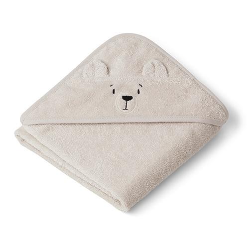 Baby badcape Albert ijsbeer sandy - Liewood