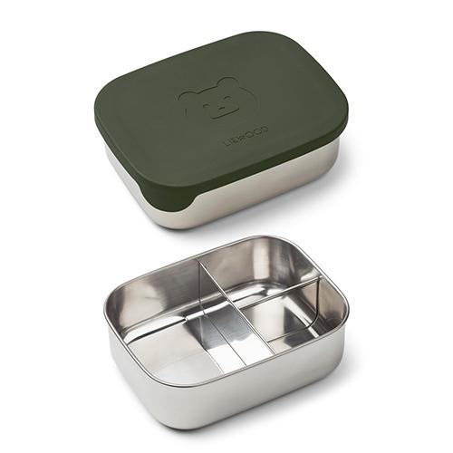 Arthur Lunchbox Mr bear hunter green - Liewood