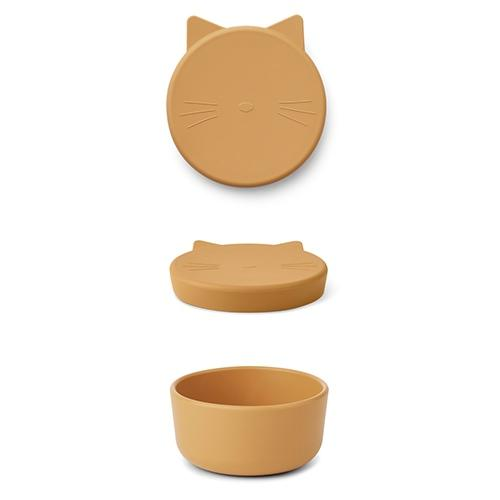 Silicone Snack box Cornelius Cat yellow mellow - Liewood