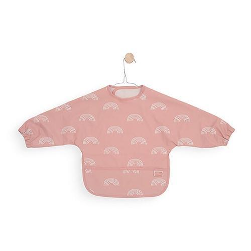 Waterproof slab met mouwen regenboog roze - Jollein