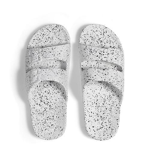 Slipper White splatter - Freedom moses