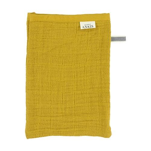 Hydrofiele washandjes Bliss Mustard - 2 pack - Les rêves d'Anaïs