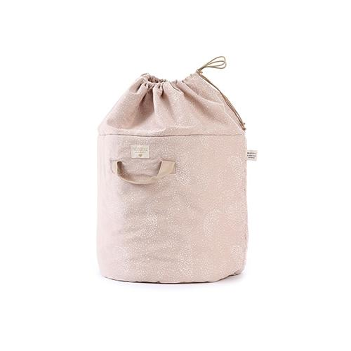 Opbergmand Bamboo White bubble/misty pink large - Nobodinoz