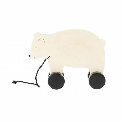 Houten trekdiertje Bear - Jollein