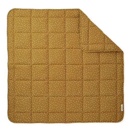 Quilted deken Ebbe Confetti olive - Liewood