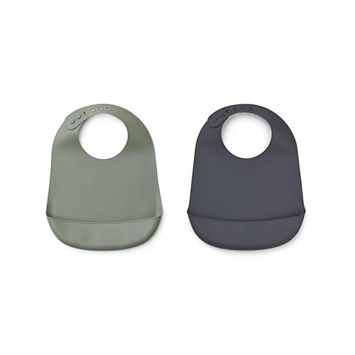 Silicone slab Tilda Faune green/stone grey mix (2 pack) - Liewood