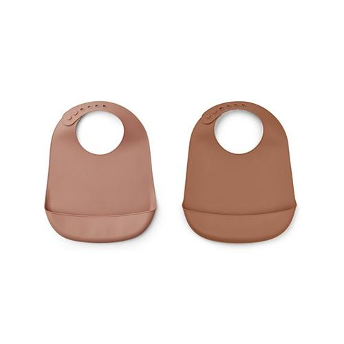 Silicone slab Tilda Dark rose/terracotta mix (2 pack) - Liewood