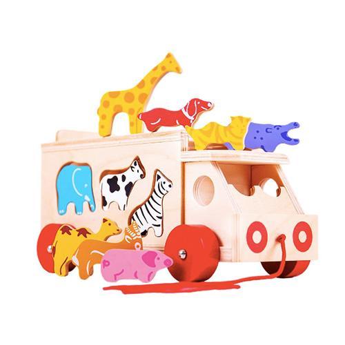 Trekwagen dieren Lorry - Bigjigs