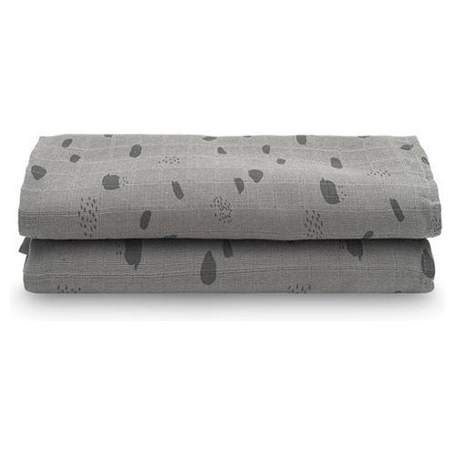 Hydrofiele multidoeken large 115x115cm - Spot grey (2pack) - Jollein