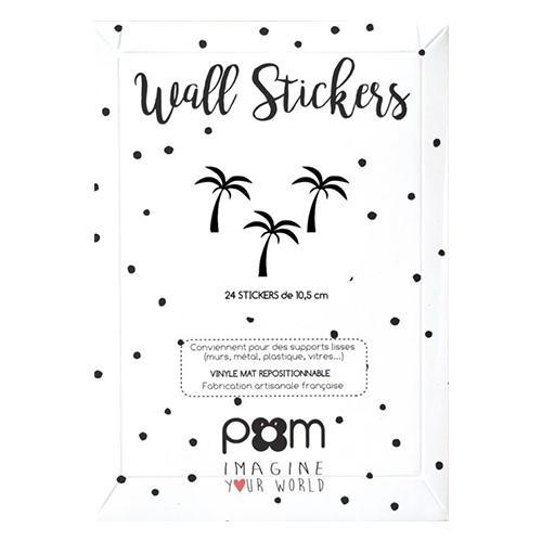 Muurstickers Palmbomen zwart - Pöm
