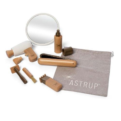 Houten kapperset in tasje - by Astrup
