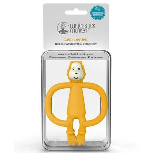 Bijtspeeltje Jungle friends Ludo lion yellow - Matchstick Monkey