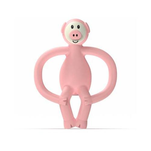 Bijtspeeltje Jungle friends Pickle Pig Pink - Matchstick Monkey