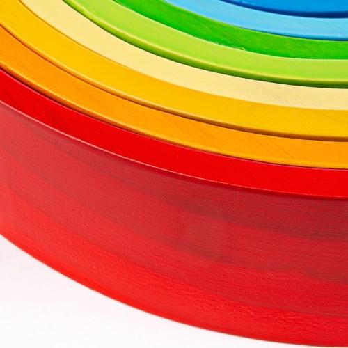 Houten stapeltoren regenboog groot - Bigjigs
