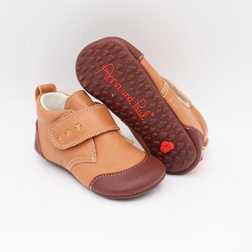 First shoes Charlie Cognac - Anna und Paul