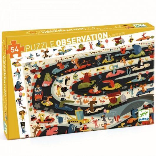 Observatiepuzzel auto's (54PC) - Djeco