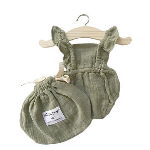 Romper Lou Olive green - Minikane