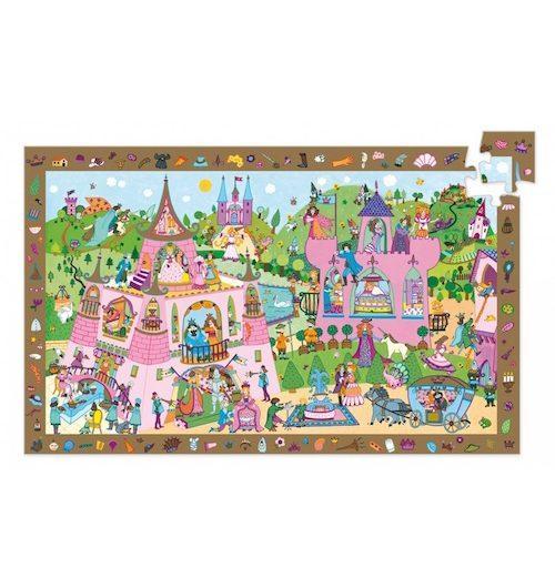 Observatiepuzzel princessen (54PC) - Djeco