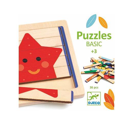 Houten puzzel PuzzlesBasic - Djeco
