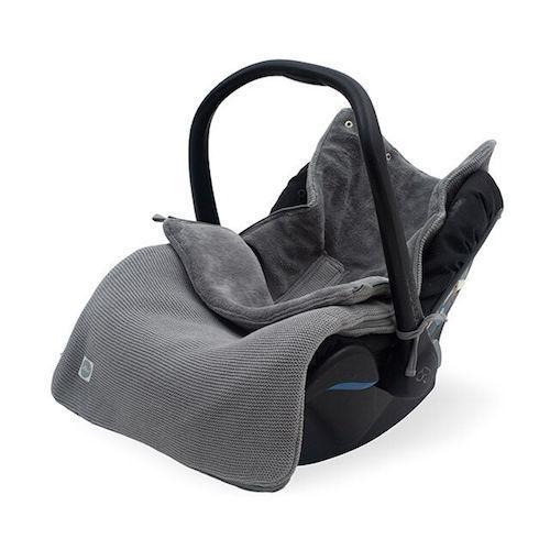 Voetenzak Basic knit stone grey - Jollein