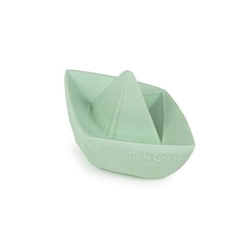 Bijt- en badspeeltje Origami bootje mint - Oli & Carol