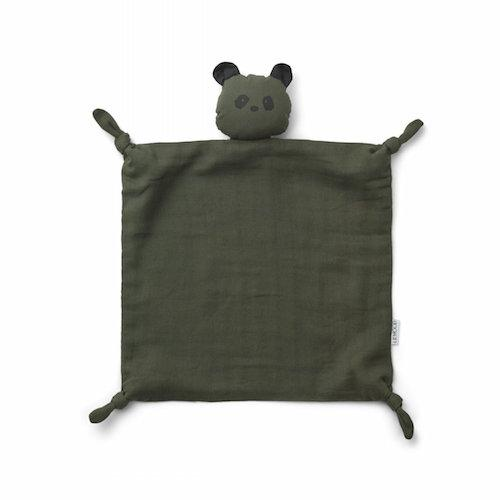 Knuffeldoekje Agnete Panda Hunter green - Liewood