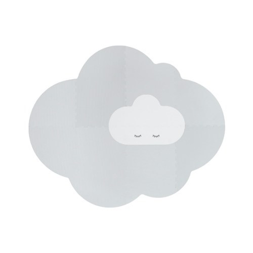 Speelmat Head in the clouds Large Pearl grey - Quut