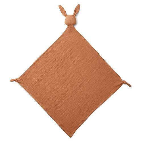 Knuffeldoekje Robbie muslin Konijn terracotta - Liewood