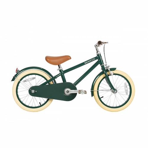 Fiets met pedalen Classic Green - Banwood