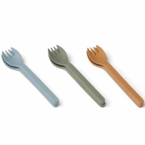Naoto Bamboo vorken - Blue multi mix - Liewood