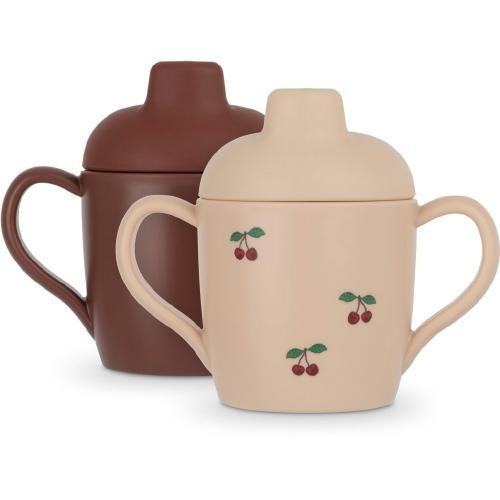 Drinkbeker Sippy cup 2 stuks Cherry - Konges Sløjd