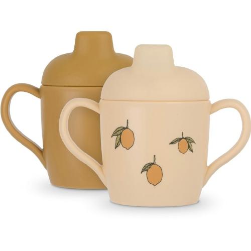 Drinkbeker Sippy cup 2 stuks Lemon - Konges Sløjd