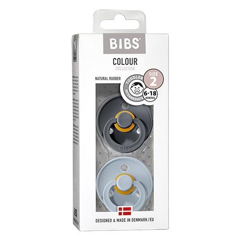 Fopspeenset T2 Blister Iron/Baby Blue - Bibs