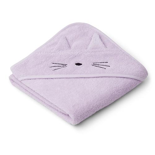 Baby badcape Albert Cat Light lavender - Liewood