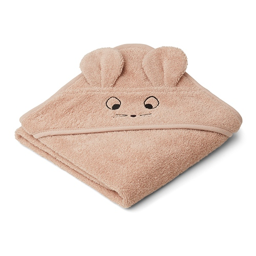 Baby badcape Albert Mouse Pale Tuscany - Liewood