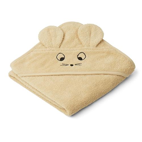 Baby badcape Albert Mouse Wheat yellow - Liewood