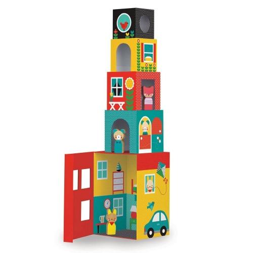 Stapelblokken Peek-a-Boo House - Petit Collage