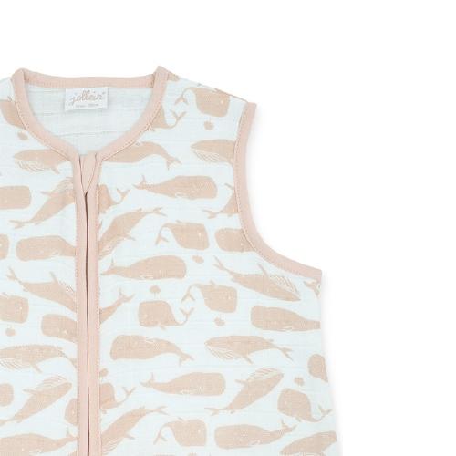Hydrofiele slaapzak zomer Whales Pale pink - Jollein