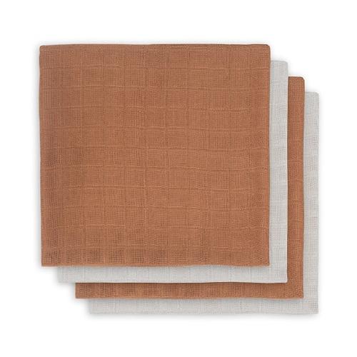 Hydrofiele/Bamboe multidoeken small 70x70cm Caramel (4pack) - Jollein