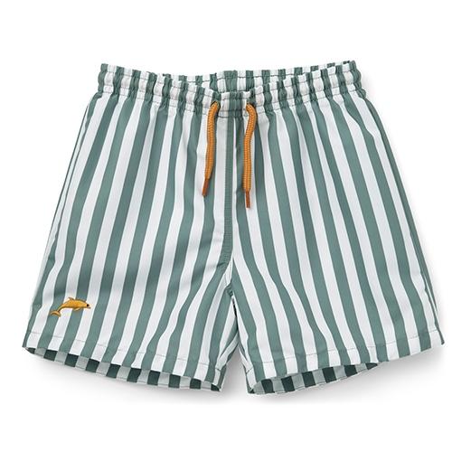 Zwemshort Duke - Stripe Peppermint/White - Liewood