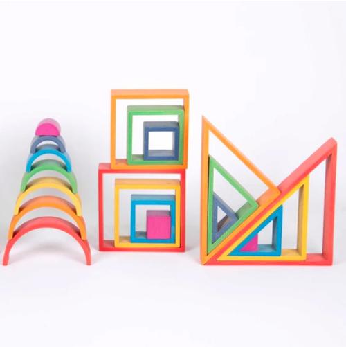 Architectuur Houten blokken set - Tickit