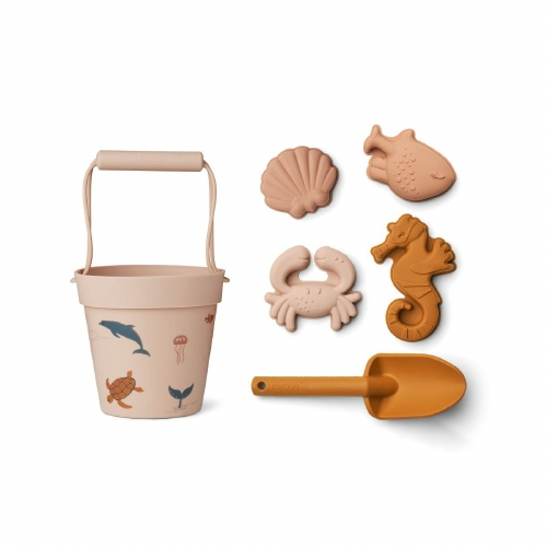 Dante Beach Set Zeedieren Rose - Liewood