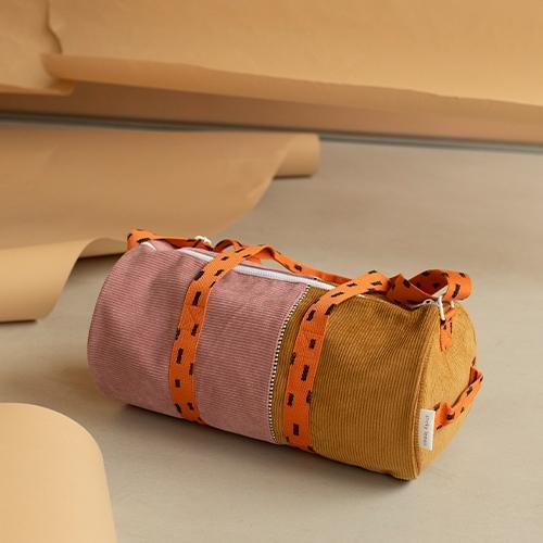 Duffelbag sprinkles Corduroy Dusty pink | dijon | carrot orange - Sticky Lemon