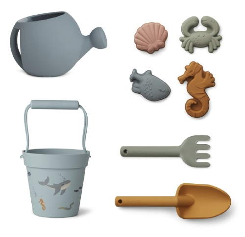 Florence Beach & Garden Set - zeedieren Sea blue - Liewood