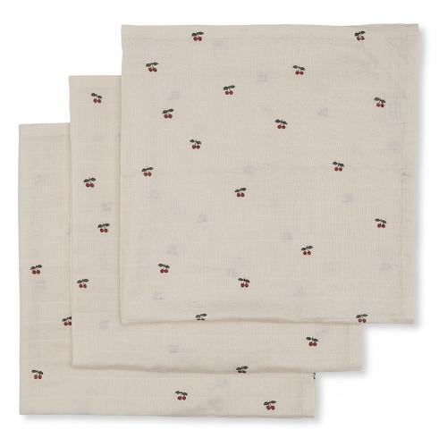 Hydrofiele doeken Cherry 3 pack - Konges Sløjd