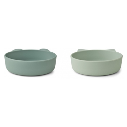 Siliconen bowls Vanessa 2-pack Mint mix - Liewood