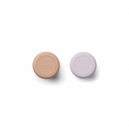 Ethan siliconen beker 2 stuks – Cat light lavender rose mix – Liewood
