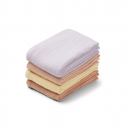 Hydrofiele doeken Leon 4 pack Light lavender multi mix - Liewood