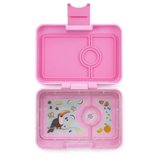 Lunchbox MiniSnack 3 vakken Stardust pink/Toucan tray - Yumbox